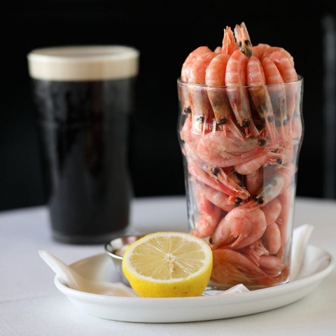 Prawns and Guinness