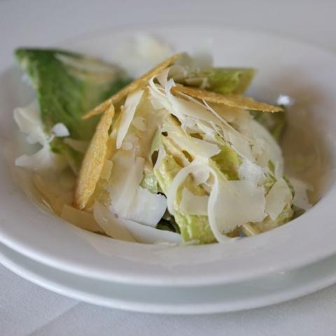 Truffled Caesar Salad, Parmesan Crisps